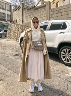 Together Basic Short Hoodie Korean Fashion Casual, Korean Street Fashion, Korea Fashion, Asian Fashion, Long Skirt Fashion, Modest Fashion, Hijab Fashion, Fashion Outfits, Womens Fashion