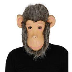 Careta Chimpancé con Pelo #mascaras #antifaces #carnaval