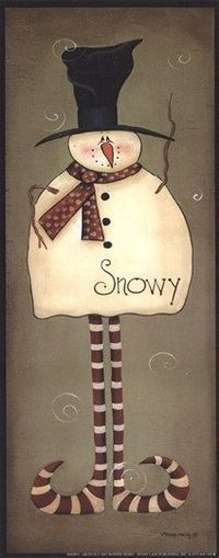 Snowy … More Christmas Signs, Christmas Snowman, Winter Christmas, Christmas Time, Christmas Decorations, Christmas Ornaments, Father Christmas, Primitive Snowmen, Primitive Christmas
