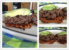 """""""Pulled steak on grated carrot bun topped with avocado....OMG, beyond delicious!"""" @April Gerald, Eat, Live Paleo."""