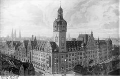 Norddeutscher Lloyd building in Bremen,Germany. Built 1907, partly destroyed 1944, ruins removed 1969. Now there is a shopping mall.