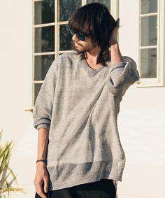 glamb(グラム)のLinen summer knit(ニット/セーター)|グレー