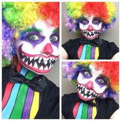 I decidet to do a scary Clown-Makeup enjoy my attached tutorial ...