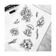 """Floral flashes by @sollefe #blackworknow if you would like to be featured"""""""