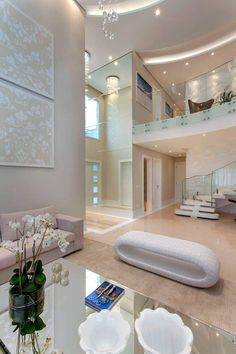 Casa Indaiatuba: Corredores, halls e escadas modernos por Designer de Interiores e Paisagista Iara Kílaris Mansion Interior, Dream House Interior, Luxury Homes Dream Houses, Luxury Homes Interior, Luxury Apartments, Dream Homes, Hall Interior, Home Room Design, Dream Home Design