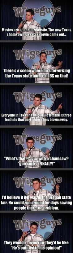The Texas Chainsaw Massacre . Browse new photos about The Texas Chainsaw Massacre . Most Awesome Funny Photos Everyday! Because it's fun! Funny Shit, Haha Funny, Funny Cute, Funny Posts, Funny Memes, Funny Stuff, Funny Things, Funny Gifs, Random Things