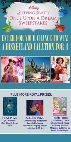 #Win a #Disneyland Vacation for 4