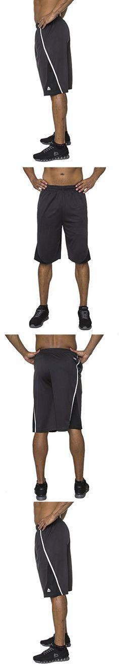 RBX Active Men's Premium Mesh Basketball Short Graphite / White Slash X-Large