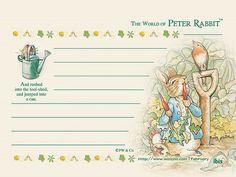 Letter Paper : The World of Peter Rabbit  - Petter rabbit Letter Paper Background 7