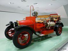 Porsche firetruck (1912), the new Porsche Museum @ Stuttgart, Germany