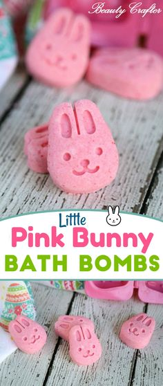Pink Bunny Bath Bombs DIY