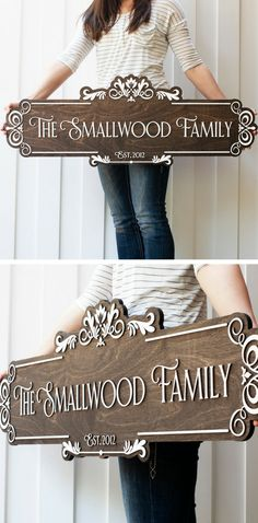 Personalized family name sign. #woodsign #familysign #familyname
