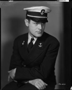 Robert Montgomery, put movie making on hold to serve 4 active years in the military. He took full active military duties, with no exceptions! Ran a PT boat as well as other critical active duties. Hollywood Actor, Hollywood Stars, Classic Hollywood, Old Hollywood, Hollywood Icons, Famous Men, Famous Faces, Famous People, Robert Montgomery
