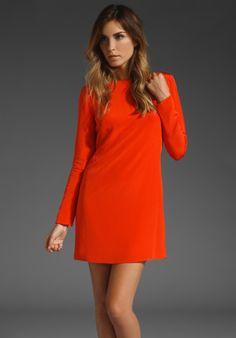 ce90a4d8d22a Silk Shift Dress - Lyst Tibi Dresses, Day Dresses, Sleeve Dresses, Red Silk