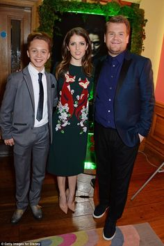 Special screening: (L to R) Daniel Huttlestone, Anna Kendrick and James Corden attend at t...