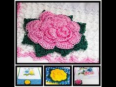 Guardanapo flor rainha de crochê.