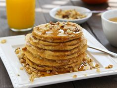 POWER PUMPKIN PANCAKES by @livlife