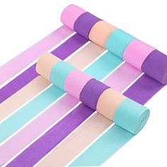 82 Feet//Roll 12 Rolls Crepe Paper Colors Crepe Paper Decorations Crepe Paper Streamer Crepe Paper Decors with Double-Sided Tape for Birthday Party Wedding Festival Ornament