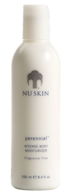 Nu Skin Perennial Intense Body Moisturizer is a therapeutic body moisturizer that promotes cellular durability, helping to reinforce the skin's natural defense mechanisms and protect against external aggressors. Nu Skin, Face Skin Care, Anti Aging Skin Care, Beauty Secrets, Beauty Skin, Body Care, Perennials, Lotion, Moisturizer