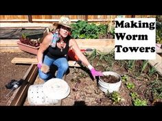 Worm Towers from 5 gallon buckets - YouTube