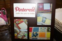 Throwing a Pinterest  party! I love this idea so much! The host chose two crafts from Pinterest for the group to make together. Each guest chose a food from Pinterest to make and bring to the party. Brilliant!