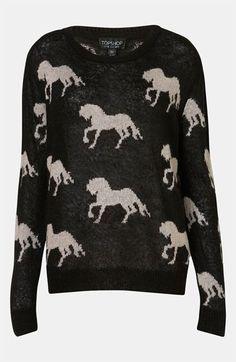 Topshop Horse Sweater #Nordstrom #britishstyle