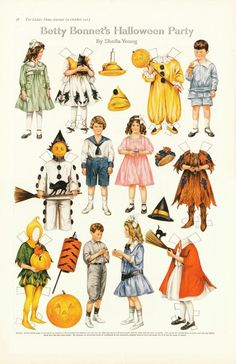 Betty Bonnet's Halloween Party, 1917, by Sheila Young | The Ladies Home Journal