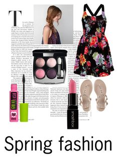 """Spring fashion"" by fashionpassion2020 ❤ liked on Polyvore featuring Rare London, Chanel, Smashbox and American Eagle Outfitters"