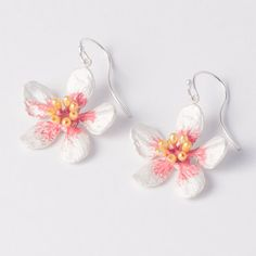 Almond Blossom Earrings by Michael Michaud's Silver Seasons Jewelry