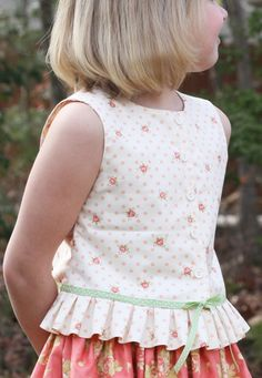 Olabelhe Sewing Pattern Kate's Blouse Pattern for Girls 118 Toddler Dress, Toddler Outfits, Baby Dress, Kids Outfits, Little Girl Outfits, Cute Little Girls, Little Girl Dresses, Sewing For Kids, Baby Sewing