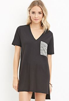 Space Dyed-Pocket Tunic | Forever 21 - 2000156900