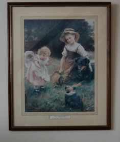 Their Favourite Pets Print, £10.00 by Next Chapter:  This really charming print of a painting by George Hillyard Swinstead will bring a smile to the faces of anyone who sees it.It has already been enjoyed by previous owners now it is your chance to own it. Dimensions H = 54cm W = 44cm