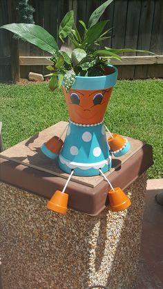 Flower Pot Art, Clay Flower Pots, Flower Pot Crafts, Clay Pot Projects, Clay Pot Crafts, Diy Clay, Flower Pot People, Clay Pot People, Painted Clay Pots