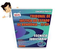 Garanta já a sua apostila para concurso público do Tribunal de Justiça do Estado de Rondônia, para o cargo de TÉCNICO JUDICIÁRIO. São 110 vagas com remuneração de R$ 4.442,48 com carga horária de 40 horas semanais. Para concorrer à vaga o candidato deve possuir nível médio.