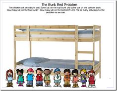 Bunk bed math- making 10s- love it!