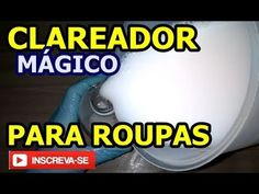 Clareador Magico para Roupas - YouTube Dyi, Soap, Perfume, Cleaning, Youtube, Lens, Homemade Fabric Softener, Homemade Cleaning Products, Homemade Washing Detergent