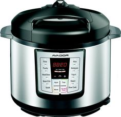 Avador AV-13CS603W 10 Preset Menu Pressure Cooker 6Qt/1000W, Stainless Steel Cooking Pot and Exterior *** Don't get left behind, see this great  product : Pressure Cookers