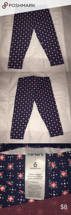Carters blue pink print leggings - 6 months Carters blue pink print leggings - 6 months Carter's Bottoms Leggings