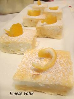 sweetcake lemon cheese cakes because youdeserveit Lemon Cheese, Sweet Cakes, Cheesecake, Food And Drink, Easy Meals, Pudding, Bread, Cooking, Recipes