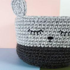 Little Bear Crochet Basket - free crochet pattern by Illumine Creative!