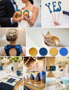bodas en azul y dorado - Google Search