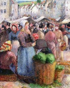 Camille Pissarro - The Market on the Grand-Rue, Gisors, 1885