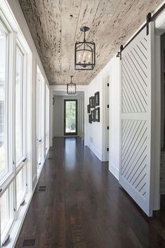 barn doors to closet in hall or master bedroom