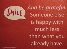 Smile and Be Grateful