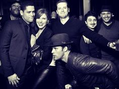 sophia bush / charlie barnett / jesse lee soffer / chicago pd / chicago fire-- two of my favorite shows in one pic