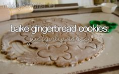 Bake Gingerbread Cookies