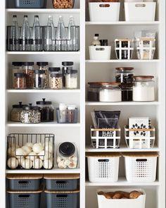 Dies ist so schön, @ thecontainerstore. Storage And Organization storage boxes organization ideas Kitchen Organization Pantry, Home Organisation, Pantry Storage, Kitchen Storage, Organized Kitchen, Storage Boxes, Storage Organization, Diy Storage, Bathroom Organization