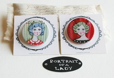 Ladies duet no 2  Pinback Buttons by LilyMoon on Etsy, $5.00