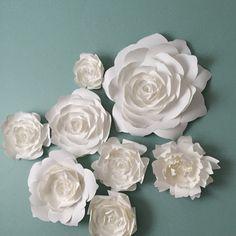 1243 best paper flowers images on pinterest in 2018 paper flowers paper flower home decor by paperflora flower backdrop photo wall white paper flower mightylinksfo