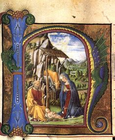 Pretty medieval manuscript of the dayis this extraordinary combination of the nativity, and a dragon! The juxtaposition certainly adds something! Its from a fifteenth century antiphoner produced in Italy. Image source:Creative Commons licensed via Wikimedia Commons.